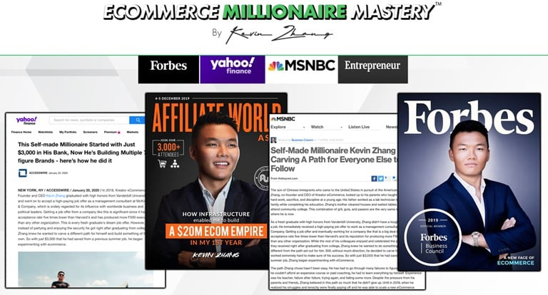 kevin zhang ecommerce millionaire mastery shopify